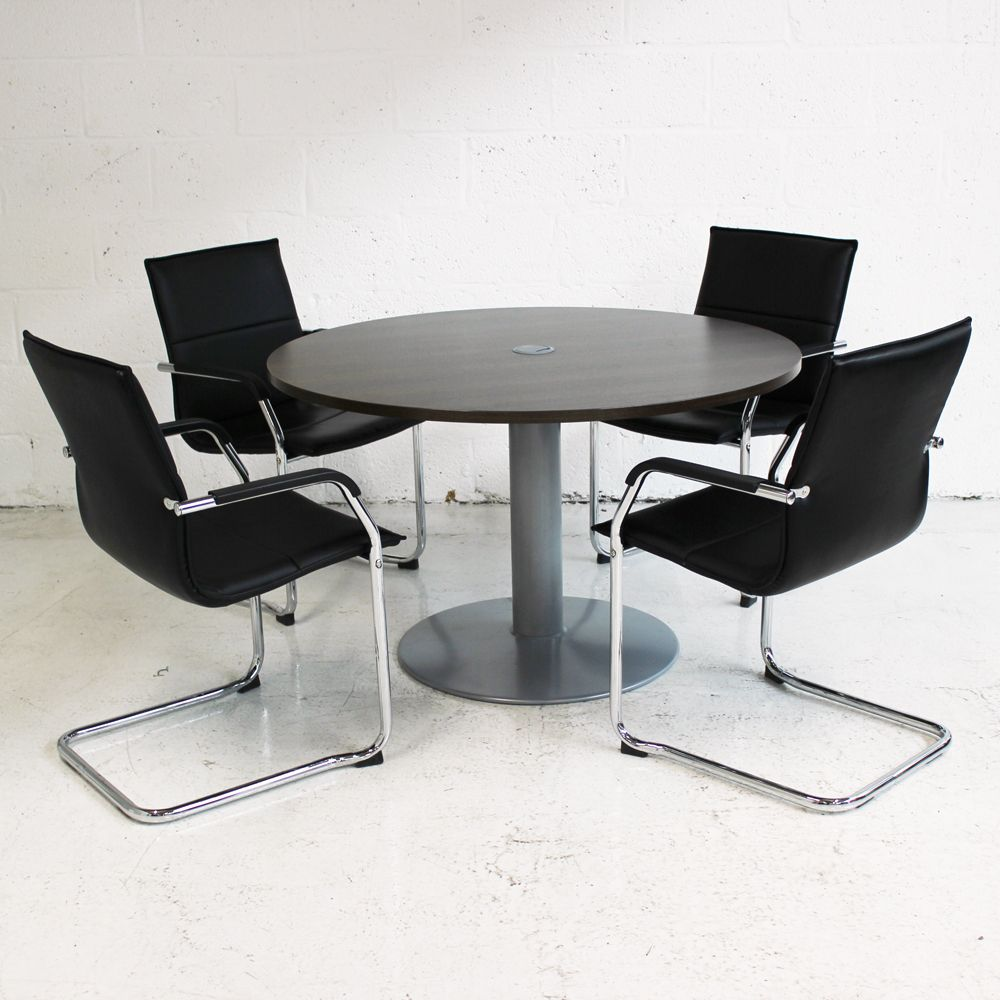Walnut Circular Meeting Table Round Table Walnut Table